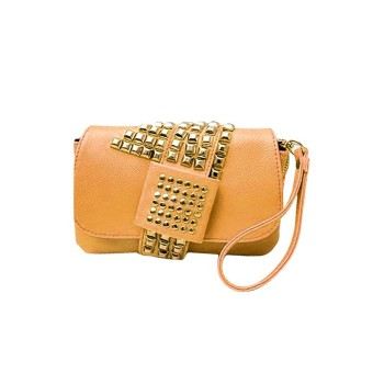 Fashion Women's Clutch Bag With Rivets and Solid Color Design