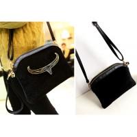 Fashion Women's Clutch Bag With Splice and Metallic Design