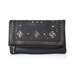 Fashion Women's Clutch With Openwork and PU Leather Design