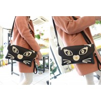 Fashion Women's Clutch With Owl Pattern and PU Leather Design Blue