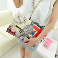 Fashion Women's Clutch With Print and Envelope Design