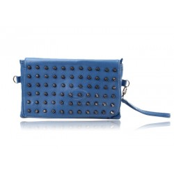 Party Trendy Women's Clutch With Rivets and Candy Color Design