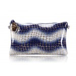 Party Women's Clutch With Stone Pattern and Wave Design