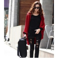 Stylish Style Cardigans Dolman Sleeves Design Sweater For Women