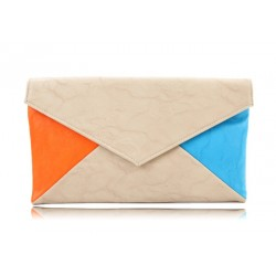 Trendy and Casual Style Women's Clutch With Color Block and Magnetic Closure Design Black