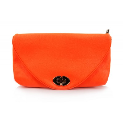 Trendy Style Women's Clutch With Pure Color and Twist-Lock Closure Design