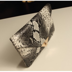 Trendy Women's Clutch With Envelope and Twist-Lock Design