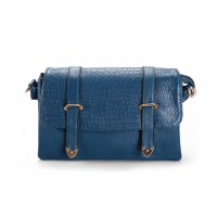 Vintage Style Women's Clutch With Simple Metal and PU Leather Design