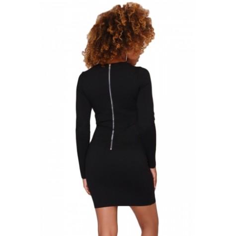 83a683eaac8 Black Rhinestone Embellished Mini Dress White (Black Rhinestone ...