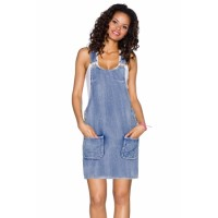 Vintage Blue/Dark Blue Wash Jeans Overall Dress