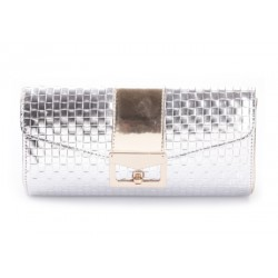 Elegant Style Women's Clutch With Metal and Color Splice Design