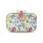 Elegant Women's Evening Bag With Print and Bowknot Design