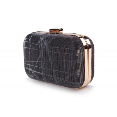 Elegant Women's Evening Bag With Solid Color and Sparking Glitter Design
