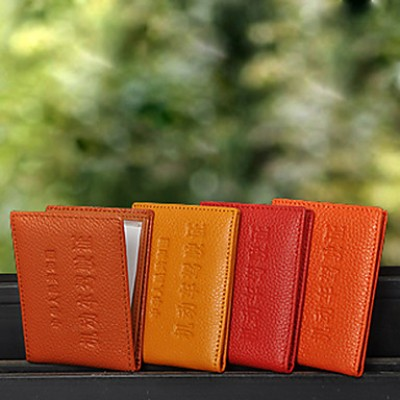 Fashion Print Genuine Leather Card Holder(10.7*7.7cm)
