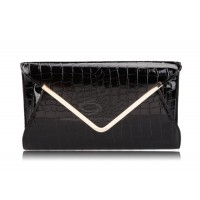 Fashion Style Women's Clutch With Stone Veins Design