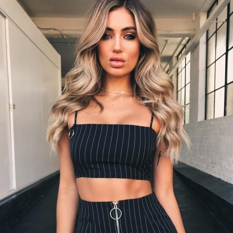 d8bc32a5b Stripe 2 Piece Set Skirt Crop Top Off Shoulder Tank Summer Two Piece Set  Black Zipper Mini Skirt
