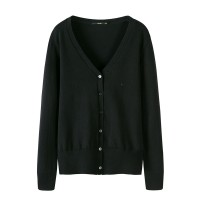 Knitted Cardigan sweater  Autumn Women Simple Solid Straight