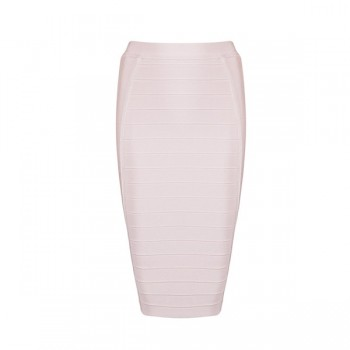 Pencil Bodycon Skirt Striped Knee-Length Bandage Skirts Wear