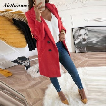Fashion Woollen Overcoat Long Sleeve Fashion Oversize Outwear Jacket And Coats