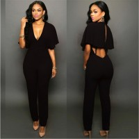 Sexy Bodysuits Zipper Women Jumpsuit Slim Pants