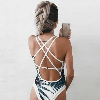 One Piece Beach Swimsuit Bathing Monokini Push Up Padded Bikini