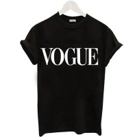 Fashion VOGUE Printed T-shirt Woman Tee Tops