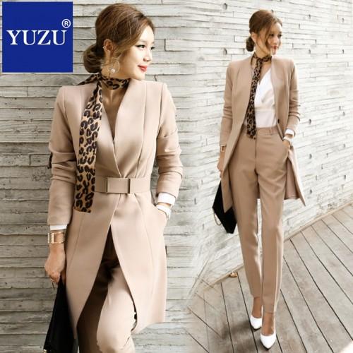 Pant Suits For Women Blazer Set Autumn Lady Business Office Work