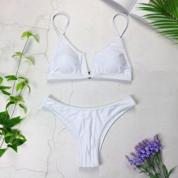 Bandeau Bikinis V Neck Bikini Swimsuits Push Up Swimwear