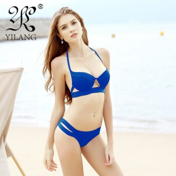 Strappy Bikini Bandage Bikini Sets Push Up Bra