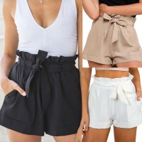 Summer Casual Shorts Beach High Waist Short Fashion Black Green Khaki White