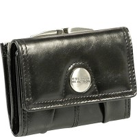 Kenneth Cole Reaction Wallets Button Up Frame Flap Multifunction
