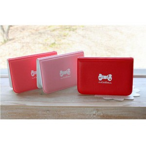 Cute Women's Card Holder With Candy Color and PU Leather Design