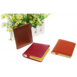 Excellent Leatherette Clutch Bag Folding Wallet Billfold Purse Burse for Female - Brown