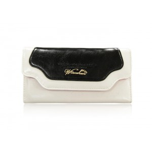 Fashion Women's Clutch Wallet With Color Block and PU Leather Design