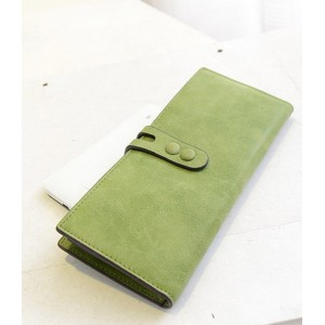 Korean Style Women's Clutch Wallet With Solid Color and PU Leather Design