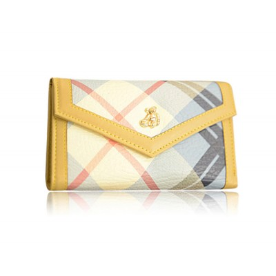 Korean Style Women's Wallet With Color Matching and PU Leather Design