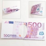 Novel Cute Foldable Neutral Euro Banknote Wallet with 500 Value Pattern