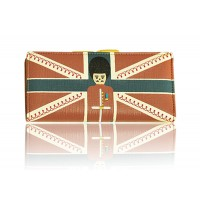 Sweet Women's Clutch Wallet With Color Block and Print Design