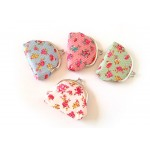 Sweet Women's Coin Purse With Floral Print and Polka Dot Design