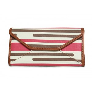 Trendy Women's Wallet With Stripe and Stitching Design