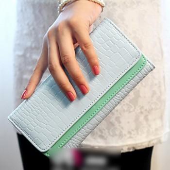 Lady's Contrast Color Wallet