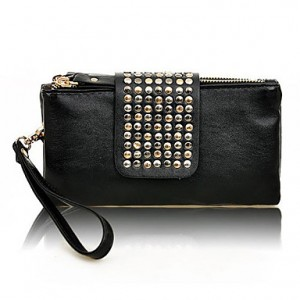 Lady's Stylish Punk Rivet Long Pattern Wallet