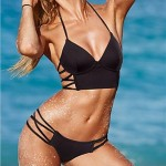 Women's Sexy Black Beach Hot Bikini Swimwear Set