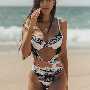 2020 Sexy V-Neck One Piece Swimsuit For Women Leopard Print Push Up Swimwear Bodysuit Monokini Bathing Suit Beach Wear Femaleit For Women Leopard Print Push Up Swimwear Bodysuit Monokini Bathing Suit Beach Wear Female