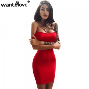 Mini dress women strapless sheath sexy club wear party elegant dress