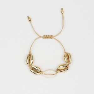 Cowrie Shell Jewelry Bracelets For Women Delicate Gold Color Easy Casing Finding Handmade Bracelet