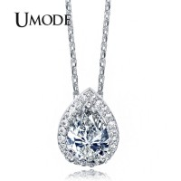 Water Drop Design Pear cut Top Quality AAA+ Cubic Zircon Pendant Necklace