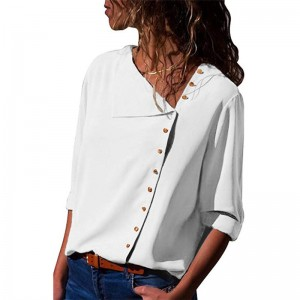 Chiffon Blouse Fashion Long Sleeve Women Blouses and Tops