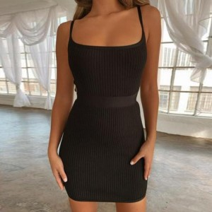Club Mini Orange Cut Out Bandage Dresses Backless Black Yellow