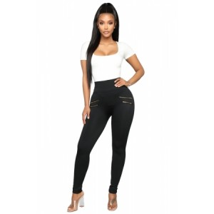 Black Kiss And Make Up Seamless Leggings